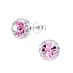 Wholesale Sterling Silver Round Ear Studs - JD8897