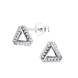 Wholesale Sterling Silver Triangle Ear Studs - JD8571