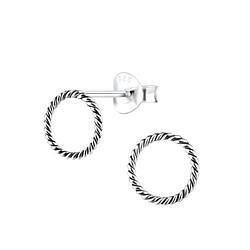 Wholesale Sterling Silver Twist Ear Studs - JD8918