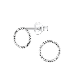 Wholesale Sterling Silver Round Ear Studs - JD8919