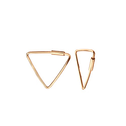 Wholesale 16mm Sterling Silver Triangle Hoops - JD5748