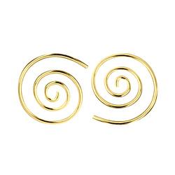 Wholesale Sterling Silver Swirl Ear Hoops - JD7471