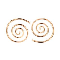 Wholesale Sterling Silver Swirl Ear Hoops - JD7472