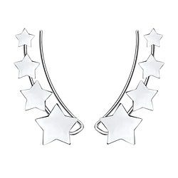 Wholesale Sterling Silver Star Ear Climber - JD8687