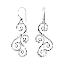 Wholesale Sterling Silver Spiral Earrings - JD8519