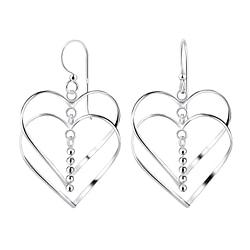 Wholesale Sterling Silver Heart Earrings - JD8531