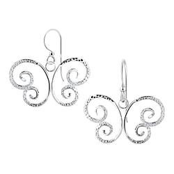 Wholesale Sterling Silver Butterfly Earrings - JD8523