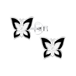 Wholesale Sterling Silver Butterfly Ear Studs - JD8789