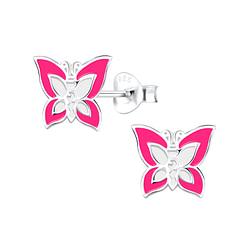 Wholesale Sterling Silver Butterfly Ear Studs - JD8788