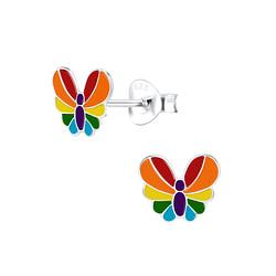 Wholesale Sterling Silver Butterfly Ear Studs - JD8791