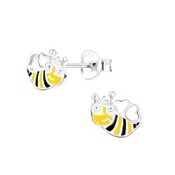 Wholesale Sterling Silver Bee Ear Studs - JD1232