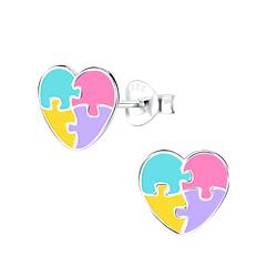 Wholesale Sterling Silver Heart Ear Studs - JD9028