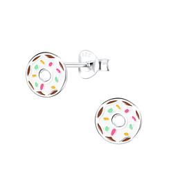 Wholesale Sterling Silver Donut Ear Studs - JD9401