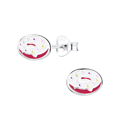 Wholesale Sterling Silver Donut Ear Studs - JD9405