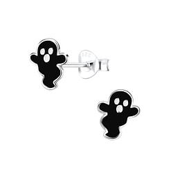 Wholesale Sterling Silver Ghost Ear Studs - JD9339