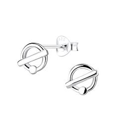 Wholesale Sterling Silver Geometric Ear Studs - JD9263