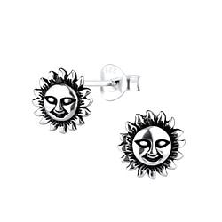 Wholesale Sterling Silver Sun Ear Studs - JD9170