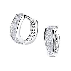 Wholesale Sterling Silver Wave Huggie Earrings - JD4834