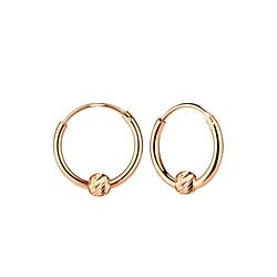 Wholesale Sliver Diamond Cut Ball Ear Hoops - JD6851