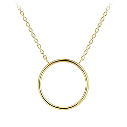 Wholesale Sterling Silver Circle Necklace - JD8803