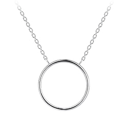Wholesale Sterling Silver Circle Necklace - JD8223