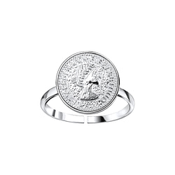 Wholesale Sterling Silver Coin Open Ring - JD8936