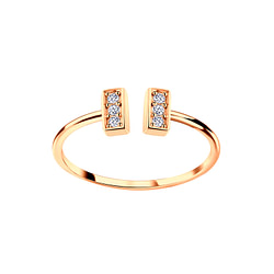 Wholesale Sterling Silver Bar Open Ring - JD5628