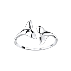 Wholesale Sterling Silver Whale Tail Open Ring - JD8909