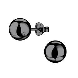 Wholesale 8mm Sterling Silver Ball Ear Studs - JD9372
