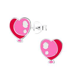 Wholesale Sterling Silver Heart Ear Studs - JD9010