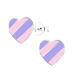Wholesale Sterling Silver Heart Ear Studs - JD9015