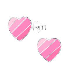 Wholesale Sterling Silver Heart Ear Studs - JD9013