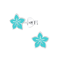 Wholesale Sterling Silver Flower Ear Studs - JD9090