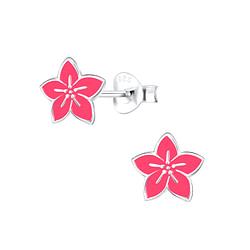 Wholesale Sterling Silver Flower Ear Studs - JD9091
