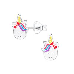 Wholesale Sterling Silver Unicorn Ear Studs - JD9050