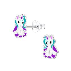 Wholesale Sterling Silver Unicorn Ear Studs - JD9058