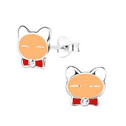 Wholesale Sterling Silver Cat Ear Studs - JD9424
