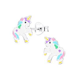 Wholesale Sterling Silver Unicorn Ear Studs - JD9286