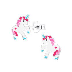 Wholesale Sterling Silver Unicorn Ear Studs - JD9416