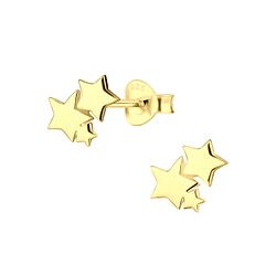 Wholesale Sterling Silver Star Ear Studs - JD9568