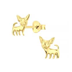 Wholesale Sterling Silver Dog Ear Studs - JD9279