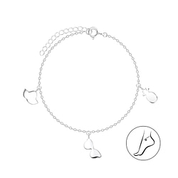 Wholesale Sterling Silver Sunny Day Anklet - JD8106