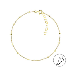 Wholesale 25cm Sterling Silver Satellite Anklet With Extension - JD8762