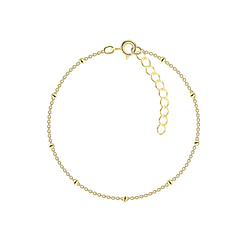 Wholesale 18cm Sterling Silver Satellite Bracelet With Extension - JD8760
