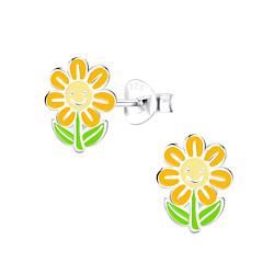 Wholesale Sterling Silver Flower Ear Studs - JD9089