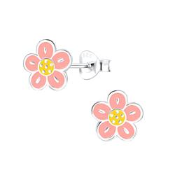 Wholesale Sterling Silver Flower Ear Studs - JD9094