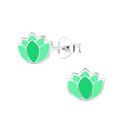Wholesale Sterling Silver Flower Ear Studs - JD9097