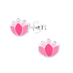 Wholesale Sterling Silver Flower Ear Studs - JD9098