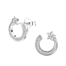 Wholesale Sterling Silver Star Ear Studs - JD9556