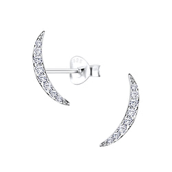 Wholesale Sterling Silver Curved Ear Studs - JD9559